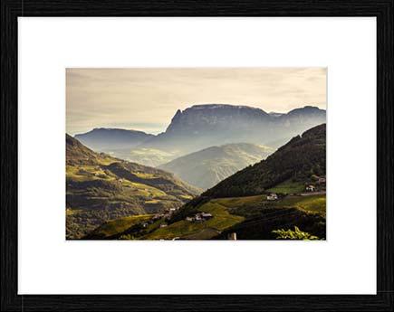 Kunstdruck, Poster, Leinwand: Südtirol