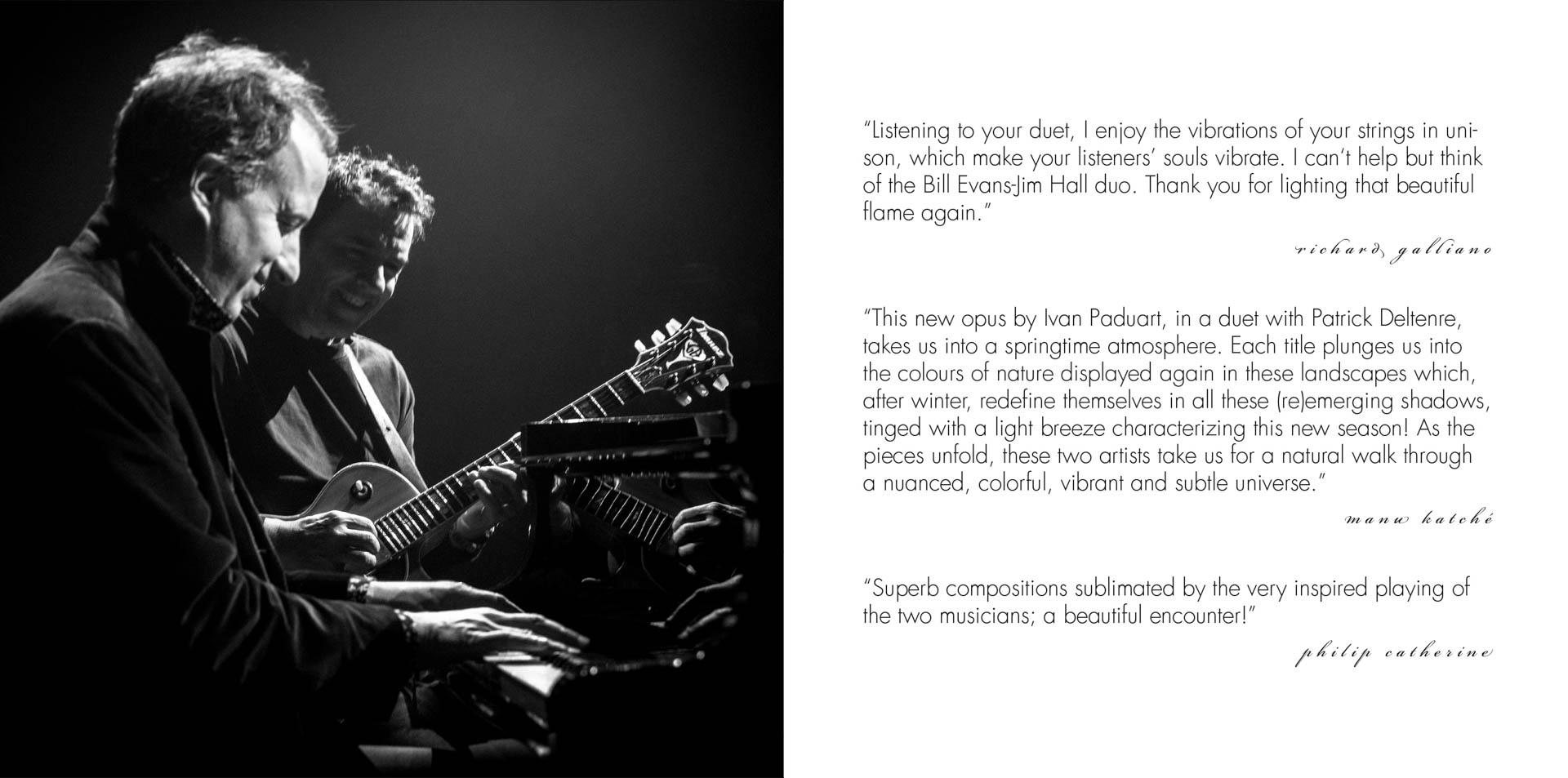 Patrick Deltenre, Ivan Paduart  (2 Booklet-Seiten)