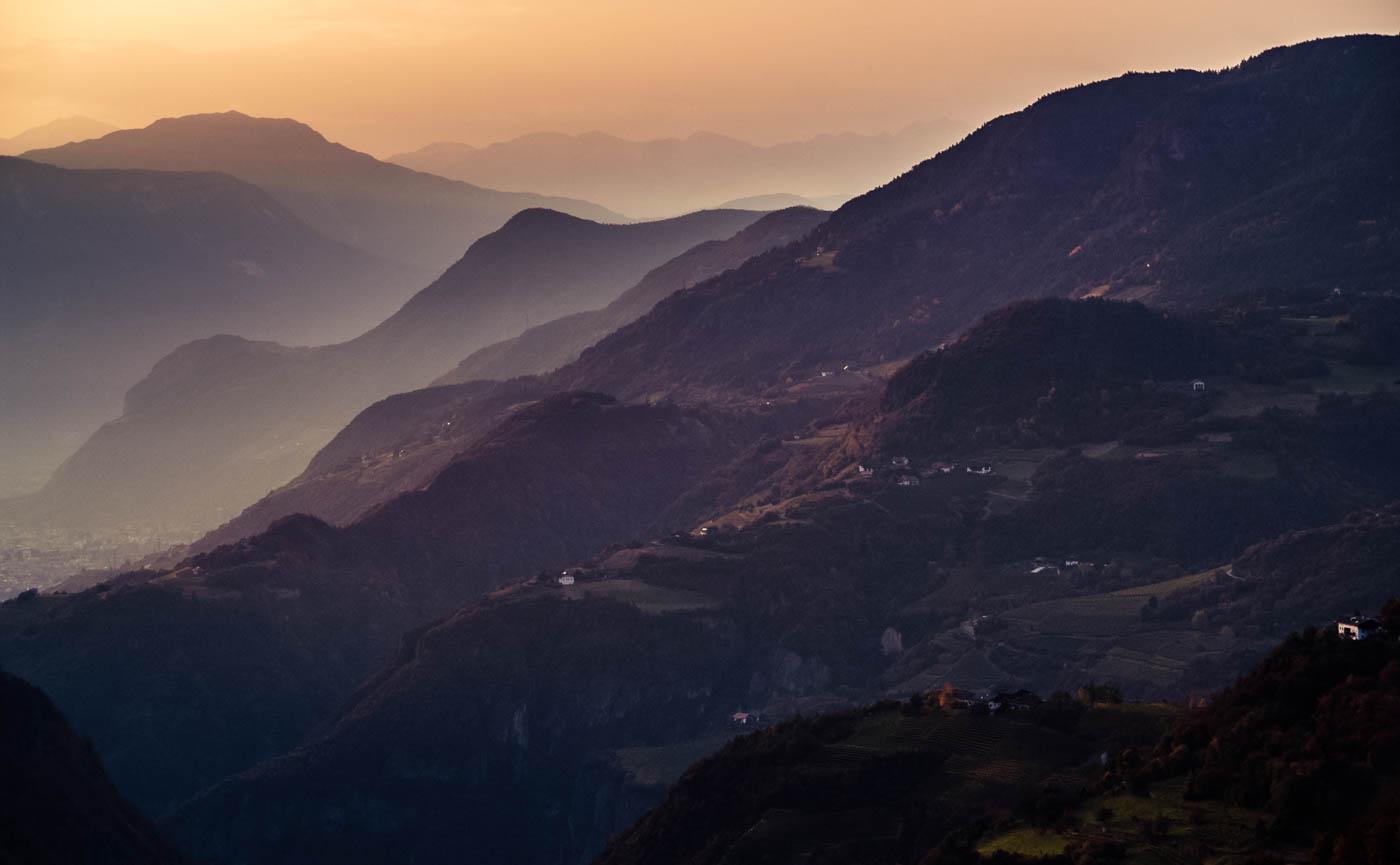 Abend in Südtirol