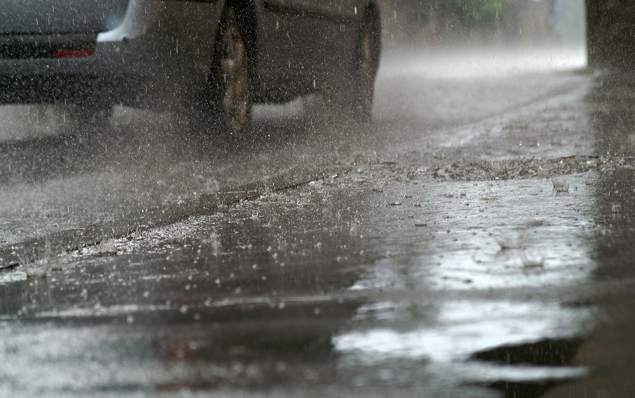 Regen in Meran.